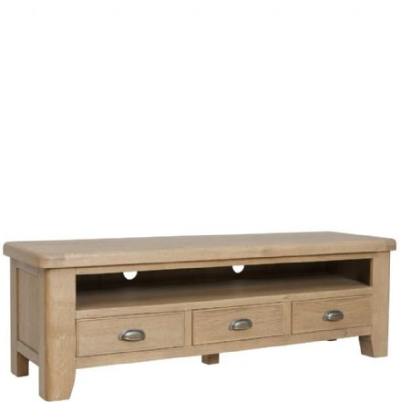 Henley Oak Large TV Unit